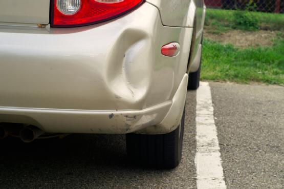 Dented Car Bumper